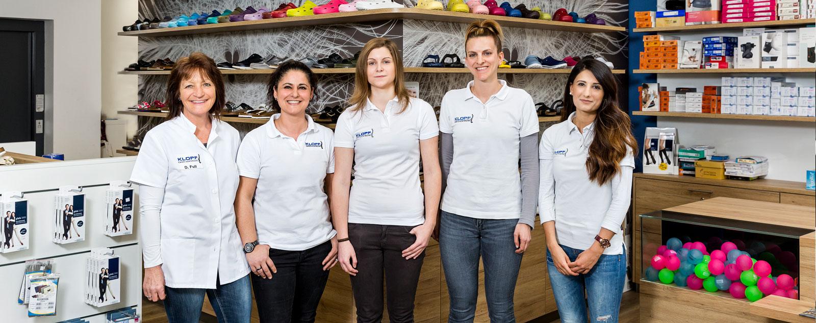 Team Ladengeschäft Klopf Orthopädie
